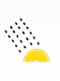 pic of rainy weather  - weather concept orange shape of rainy season - JPG