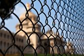 picture of vidhana soudha  - Abstract shot of the Vidhana Souda government building behind a fence in Bangalore India - JPG