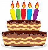 Постер, плакат: День рождения торт