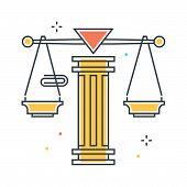 Постер, плакат: Law Scale Illustration
