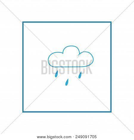 Light Rain Weather Icon In