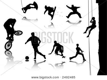 Постер, плакат: Виды спорта, холст на подрамнике