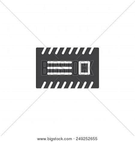 poster of Envelope Mail Vector Icon. Filled Flat Sign For Mobile Concept And Web Design. Postal Envelope With