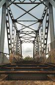 Old Abandoned Riveted Railroad Bridge. Kiev, Ukraine poster