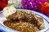 stock photo of poblano  - Mexican Chicken Mole - JPG