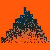 Night City Vector Illustration. Dark Urban Scape. Night Cityscape In Flat Style. Night City Skyline  poster