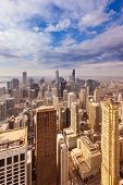 Aerial View Of The Skyline Of Downtown Chicago, Illinois, Usa poster