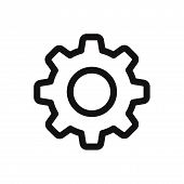Setting Icon Isolated On White Background. Setting Icon Modern Symbol For Graphic And Web Design. Se poster
