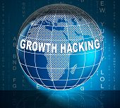 Growth Hacking Website Improvement Tactics 3D Illustration poster