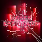 Cyber Espionage Criminal Cyber Attack 2D Illustration poster