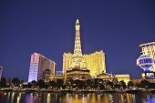LAS VEGAS, NEVADA - OCTOBER 21:  Paris, Ballys and other resorts are located on the strip. Vegas has