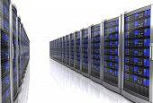 Network Workstation Server 3d Illustration Isolated On White Background poster