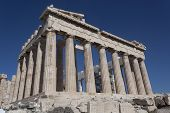 The Parthenon Is A Monument Of Ancient Architecture, An Ancient Greek Temple Located On The Athenian poster