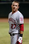 PHOENIX, AZ - NOVEMBER 4: Mike Trout, a top prospect for the Los Angeles Angels, plays for the Scott