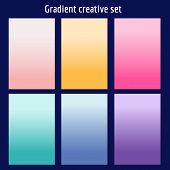 Screen Gradient Set With Modern Abstract Backgrounds. Colorful Fluid Cover For Poster, Banner, Flyer poster