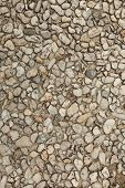 Pebble Stone Floor Tile Seamless Background. Cement Mixed Gravel Pebble Stone Floor Texture. Wet Rou poster