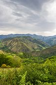 Scenic French Napoleon Route Pyrenees Mountains Overcast View In May, Pyrenees Mountains France poster