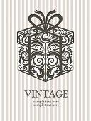 Постер, плакат: Винтажные Подарочная коробка