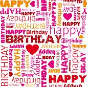 pic of happy birthday  - Happy birthday wrapping paper seamless pattern in vector - JPG