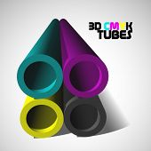 foto of dtp  - vector 3d cmyk background - JPG