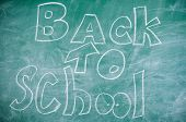 September Time To Back To Studying And Getting Education. Chalkboard With Inscription Back To School poster