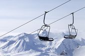 stock photo of ropeway  - Ropeway at ski resort - JPG
