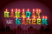 foto of jawi  - Vector Ramadan Candles Translation of Jawi Text - JPG