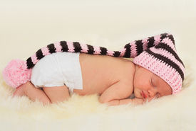 picture of newborn baby girl  - two - JPG