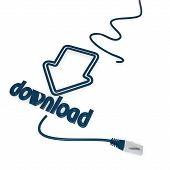 download symbol with cat5 network cable