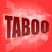 image of taboo  - security concept - JPG