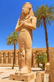 Постер, плакат: Статуя Рамсеса II в Карнакский храм в Луксоре Египет