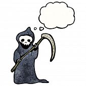 cartoon death with scythe
