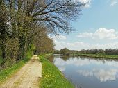 Nantes To Brest Canal In Spring, France