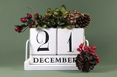 Save The Date Calendar With Winter Theme Colors, Fruit And Flowers, For Birthdays, Special Occasions