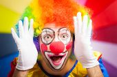 foto of clown face  - Clown making a funny face - JPG