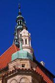foto of manor  - Baroque towers on manor - JPG