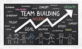 stock photo of team building  - Team Building and Growth on Blackboard with Chalk - JPG
