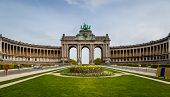 picture of 50th  - U shaped building erected on occasion of 50th anniversary of Belgium in the Jubilee Park Brussels - JPG