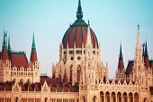 pic of cupola  - View of parliament cupola in Budapest - JPG