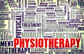 stock photo of physiotherapy  - Physiotherapy as a Medical Career Concept Art - JPG