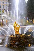 stock photo of samson  - The Samson Fountain In Peterhof - JPG