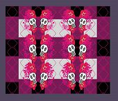 foto of emo  - Abstract emo pattern with skull  - JPG