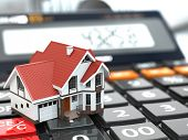 pic of calculator  - Real estate concept - JPG
