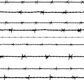 picture of safety barrier  - Barbed wire seamless background - JPG