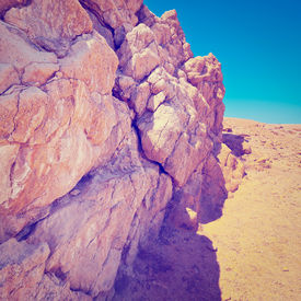picture of samaria  - Big Stones in Sand Hills of Samaria Israel - JPG
