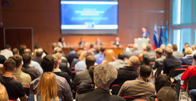 stock photo of seminar  - Business Conference and Presentation - JPG