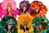foto of school carnival  - Beautiful carnival dancers - JPG