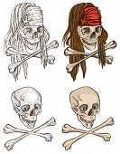 pic of dread head  - Pirates Skulls  - JPG