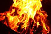 image of brazier  - Bonfire in brazier - JPG