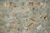 stock photo of shale  - Mosaic Stone Wall. Background and Texture for text or image. ** Note: Soft Focus at 100%, best at smaller sizes - JPG